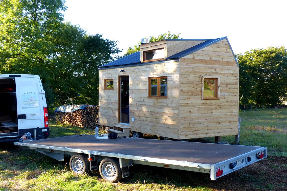 Achat Remorque Tiny House atelier bois d'ici | habiter une tiny house | réglementation