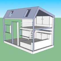 Plans d une tinyhouse autonome sur terrain constructible à Lorient, acheter une mini maison en bois sur roues