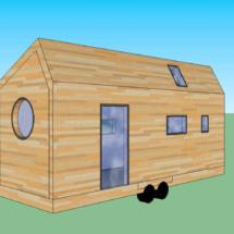 plan, acheter une mini maison en bois sur roues