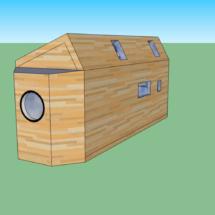 plans, acheter une mini maison en bois sur roues