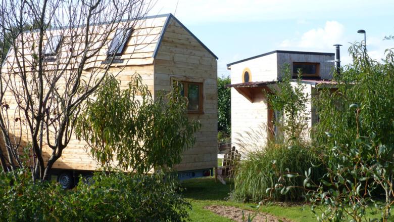 tinyhouse morbihan, mini maison en bois sur roues