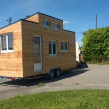 mini maison en bois sur roues et auto-construction