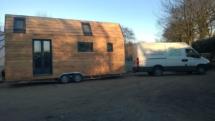 tiny house livraison mini maison en bois sur roues