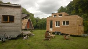 Village de Tiny house : écologique