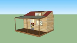 Plan d'une maison transportable