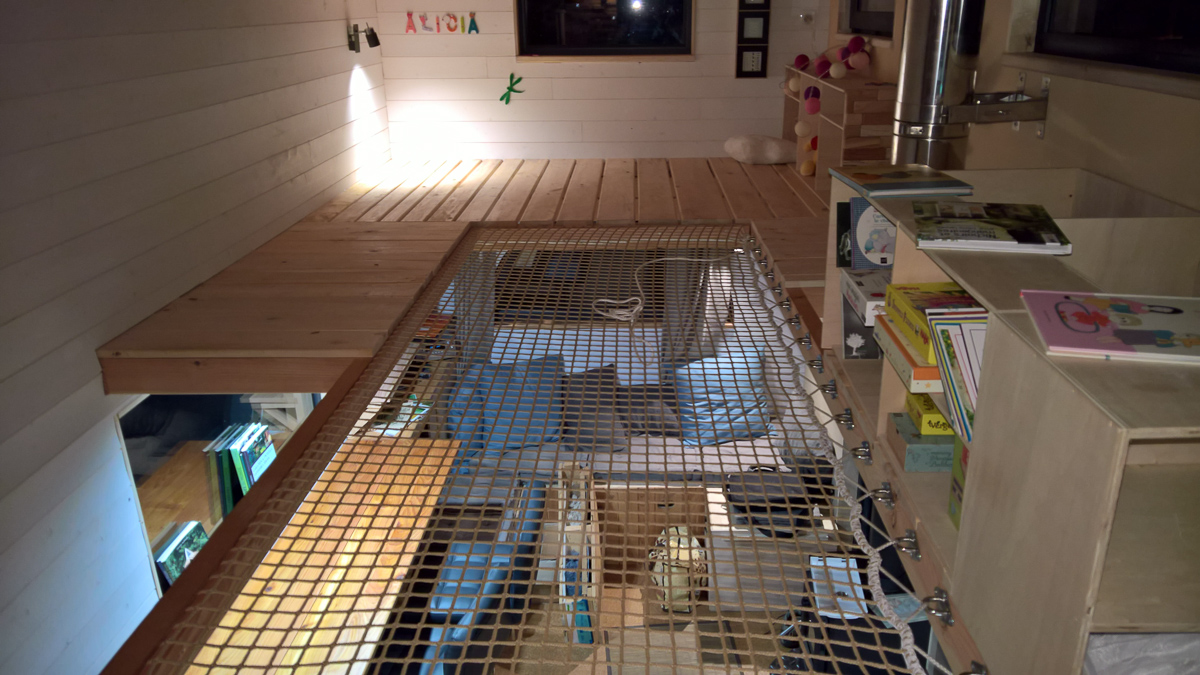 chambre de la tiny house autonome