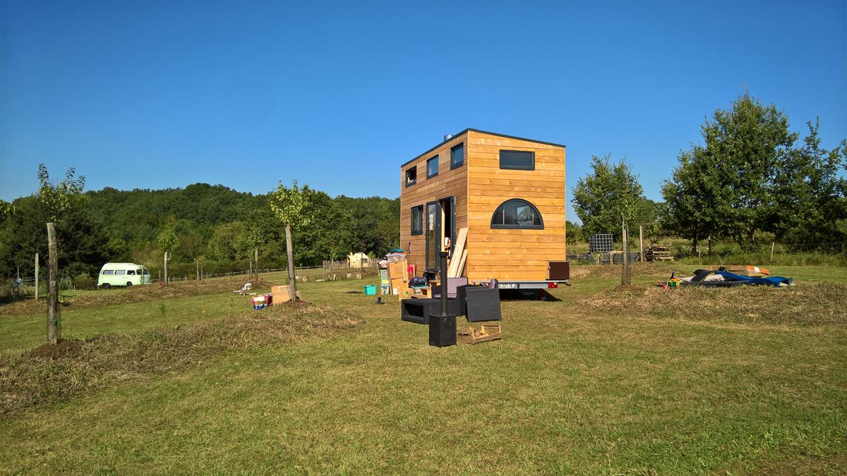 terrain de la tiny house autonome
