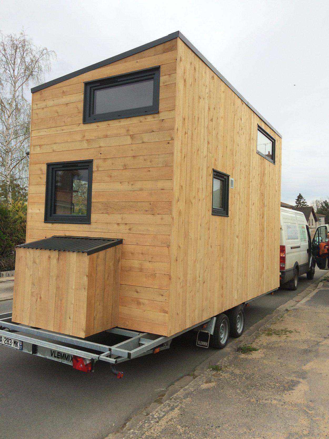Transport de la tiny house vers Poitiers