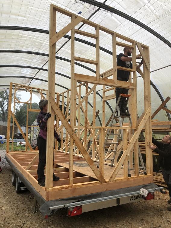 accompagnement à l'auto-construction de son micro habitat à L'Atelier Bois d'ici près de Quimper
