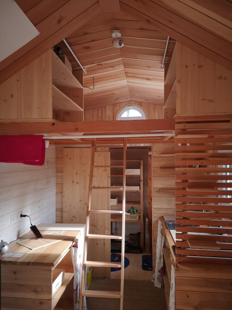 Tiny house France habitation permanente bois massif, confort et chaleur