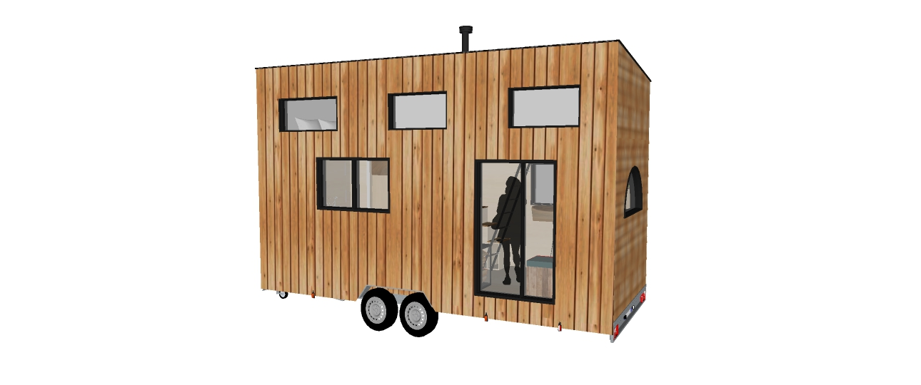 Plan 3 D de la tiny house