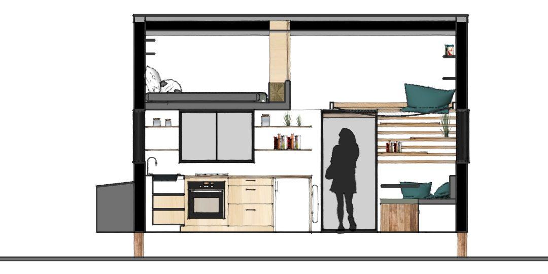 Plan 3 D pour se projeter dans sa tiny house